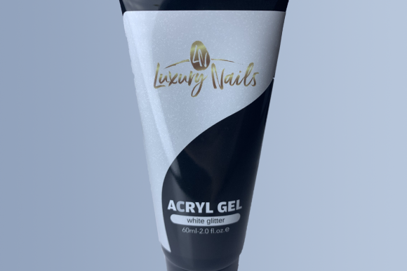 Acryl Gel – Acryl white glitter